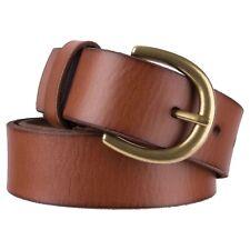 Ava & Viv Women's Plus Sz 2X Cognac Brown Leather Belt Gold Tone Buckle 53