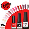 16 Bottles/Set PVOY UV Gel Nail Polish Soild Color Soak Off Gel Nail Art Varnish