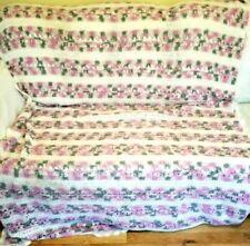 Vintage Afghan Repeating lines Throw crochet blanket handmade 72x 56