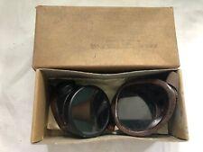 Vintage WILLSON GOGGLES Glasses Green Lens STEAMPUNK w/ Box & Invoice 1939
