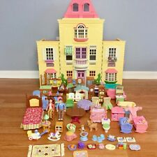 Fisher-Price LOVING FAMILY GRAND MANSION TWIN TIME DOLLHOUSE HUGE LOT Furniture