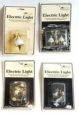 4 pcs VICTORIAN STYLE MINIATURE DOLLHOUSE WALL SCONCE & LAMP by MINIATURE HOUSE