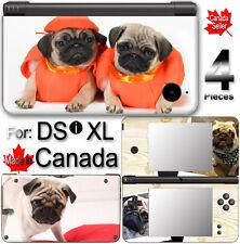 Dog Pug Cute Pet SKIN STICKER COVER for Nintendo DSi XL