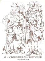 ENCART DE LUXE 60eme ANNIVERSAIRE DE L'ARMISTICE 1918 11novembre 1978