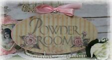 """Powder Room..."" ~ Vintage ~ Shabby Chic Country Cottage style ~ Wall Decor Sign"