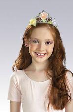 Floral FLOWER TIARA Silver Princess Headband Headpiece Girl Childs Plastic Crown