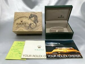 Rolex Watch Box Case 06.00.06 Genuine seahourse vintage Booklet 1021008 P44