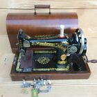 Antique Singer 28  28K Hand crank sewing machine