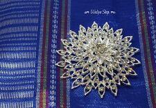Broche épingle argent - strass diamants - Pour foulard hijab robe veste...