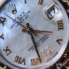 100% Factory Authentic 2016 Rolex Pearl Roman Diamond 6 2tone Everose Gold 31mm