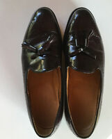 Johnson And Murphy Optima Men's Shoes Slip On Loafers Size 9D Burgundy Tasseled