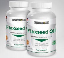 Flaxseed Oil Capsules 1000mg Haut Max Résistance 2 x 150 Flacons Futurevits GB