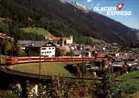 Schweiz Transport & Verkehr GLACIER EXPRESS bei Disentis Furka-Oberalp Strecke