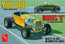 AMT 1929 Ford Model A Roadster Mod Rod 2 in 1 model kit 1/25  Retro Deluxe