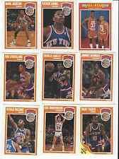 1989-90 FLEER NY KNICKS TEAM SET OF 9 CARDS EWING JACKSON OAKLEY ETC