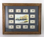 Fly Fishing Lures Shadow Box Water Color Signed Framed River Mountains Vintage