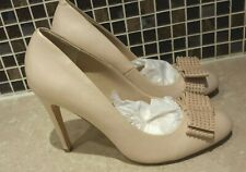 Dune Nude Leather Court Shoes Size UK 7