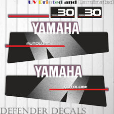 Yamaha 30 HP AUTOLUBE outboard engine decal sticker Set Kit reproduction Black