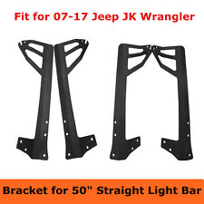 07-17 Jeep JK 50inch LED Light Bar Steel Upper Windshield Roof Mounting Bracket