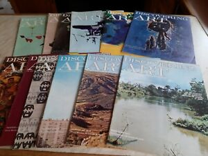 12 X  Discovering Art Magazine No's 1 -  12, printed 1960s Excellent condition.