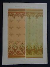 MULIER / Planche 8 / DECORATION MURALE Soleil peinture Art Nouveau Jugendstil
