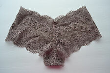 Body by Victorias Secret Crochet Lace Boy Short SHORTIE Panties LARGE Grey NEW!