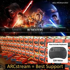 AMAZON FIRE TV BOX & KEYBOARD MOVIES LIVE TV SPORTS HD TV SHOWS BEST BOX v17.3