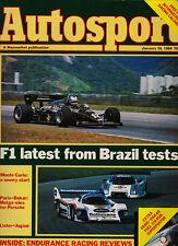 Autosport 26 Jan 1984 - Formula 1 testing, Endurance Racing review,  Monte Carlo