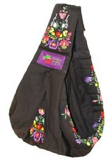 New Baba Sling Baby Carrier Embroidery Black Mexican
