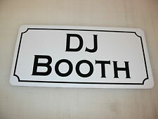 Signo de metal de cabina de Dj Dance Club Bar Sala De Juegos Pool Hall Mesa Dj evento de golf