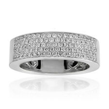 1.50 ct Five Row Ladies Round Cut Diamond Anniversary Ring In Platinum