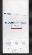 DELTA AIR LINES TICKET JACKET 1998 UNUSED