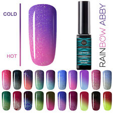 Color Changing Thermal Gel Nail Polish UV Soak Off Manicure Nail Gel Top Base US