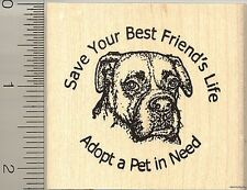 Adopt a pet rubber stamp H10001 WM Boxer Dog