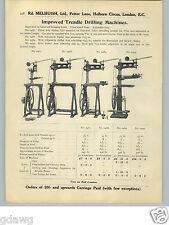 1913 PAPER AD Treadle Drilling Machine 4 Models