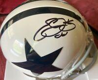 Emmitt Smith autographed signed Dallas Cowboys throwback mini helmet w/ hologram