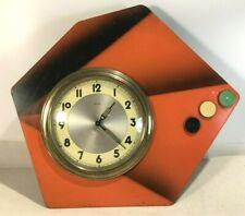 Rare Horloge formica orange,  Micro, vintage,  bloquée…