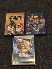 3 Walt Disney Dvds Toy Story 3,chip N Dale Race To Witch Mountain