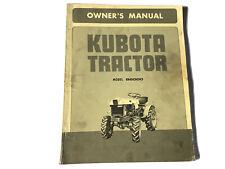 Kubota Tractor B6000 Original Owners Manual Stock 6u