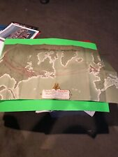 American Airlines Overseas Service Plotting Chart Vintage w/envelope