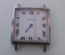 Marvin wrist watch winding sqaure stainless steel case dial enamel need service