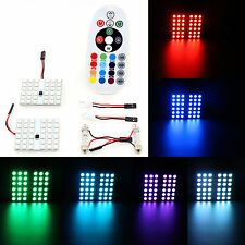 LED Car Interior Dome Light LED Panel Light Neon Decoration RGB Remote Control