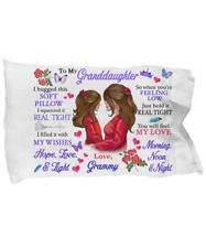 To My Granddaughter Pillowcase Gift From Grammy Pillow case Covering For Birthda