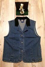 Ruff Hewn Womans Denim Vest Size M Minimal Wear