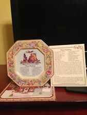 Avon Hospitality Sweets Recipe Plate - Plum Pudding - 1982