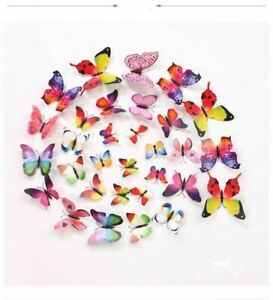 12pcs 3D Butterfly Magnetic Fridge Wall Stickers Home Decor Decal PVC Decoration