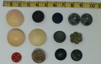 Nice Lot of 13 Large Vintage 1- Piece BUTTONS Rare Unique - Chic crafting