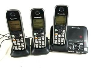Panasonic 6.0 Plus Cordless Phone Set Answering Machine w 3 Handsets KXTG7621