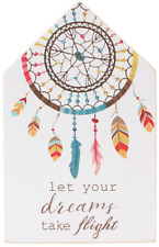 Let Your Dreams Take Flight. Dreamcatcher Design Wooden Wall Hanging