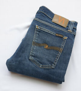 Nudie Tight Long John Skinny Jeans mens size W32 L32 M Medium Regular blue